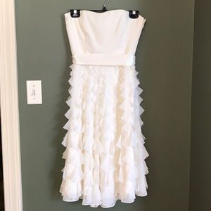 White / cream strapless dress